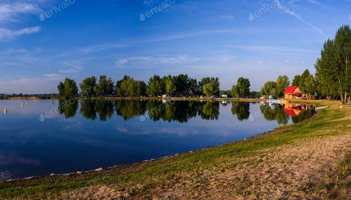 Lake in the beautiful day