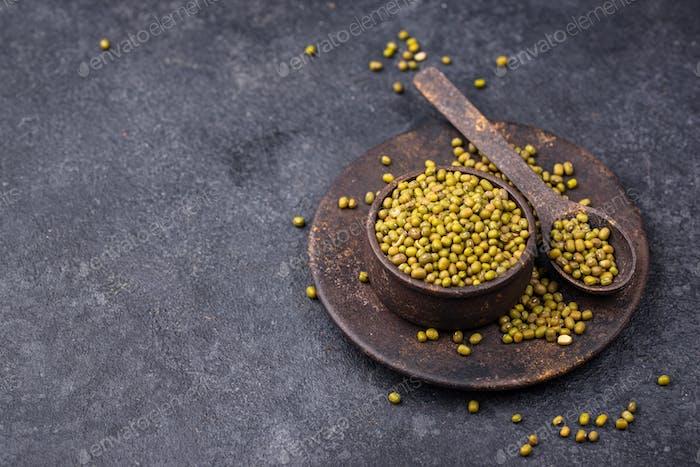 Green mung beans, healthy legumes