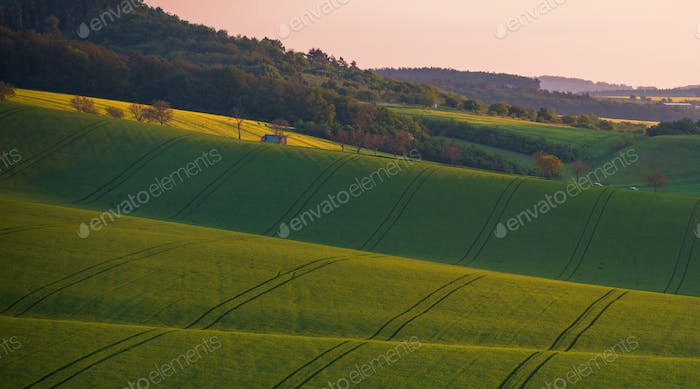 Beautiful landscape of Moravian farmland