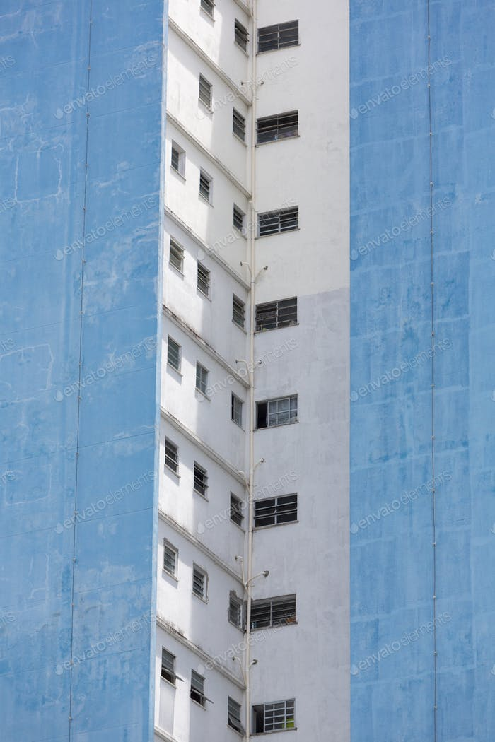 Modern residential dirty buildings in Manaus, Brazil