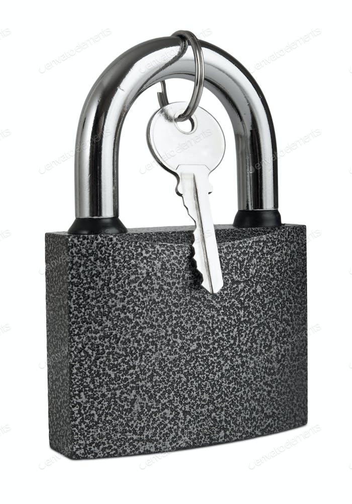padlock  isolated on white