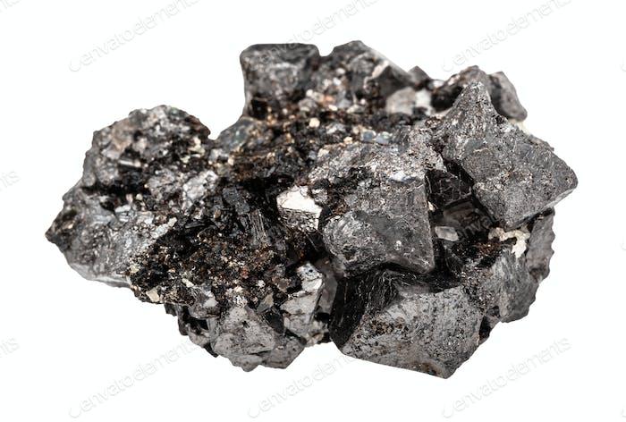 crystalline Magnetite (lodestone, iron ore) rock