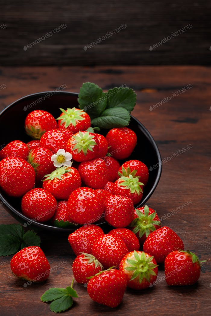 Ripe garden strawberry