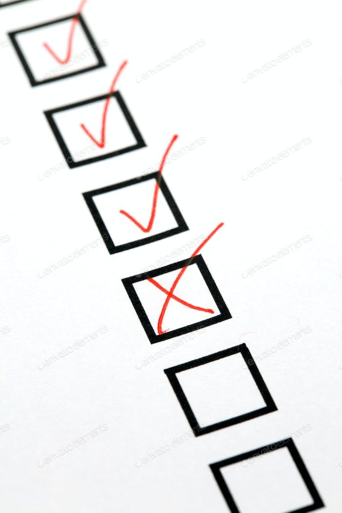 Checkbox-Liste