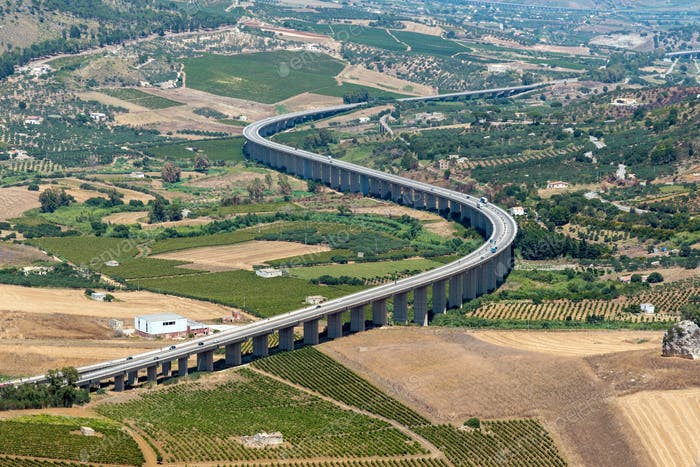 Curved sicilian highway