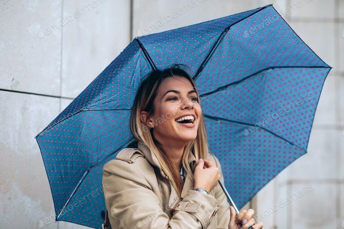 Genießen Sie regnerischen Tag