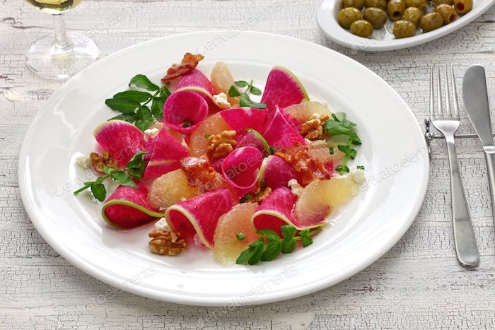 watermelon radish salad