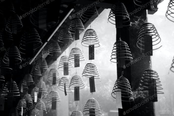 Incense Coils in Chinese Temple