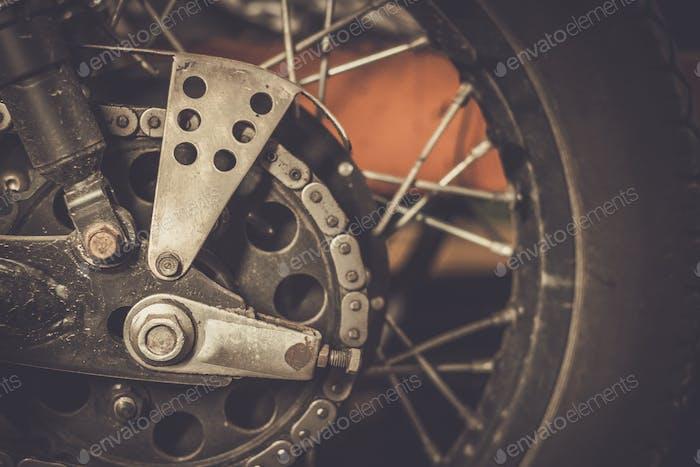 Motorrad-Kettenrad und kundenspezifische Kettenschutz
