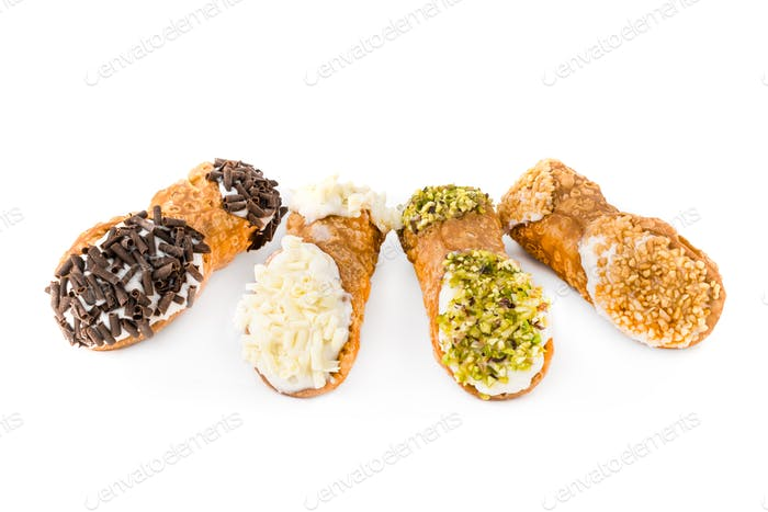 Four Sicilian cannoli