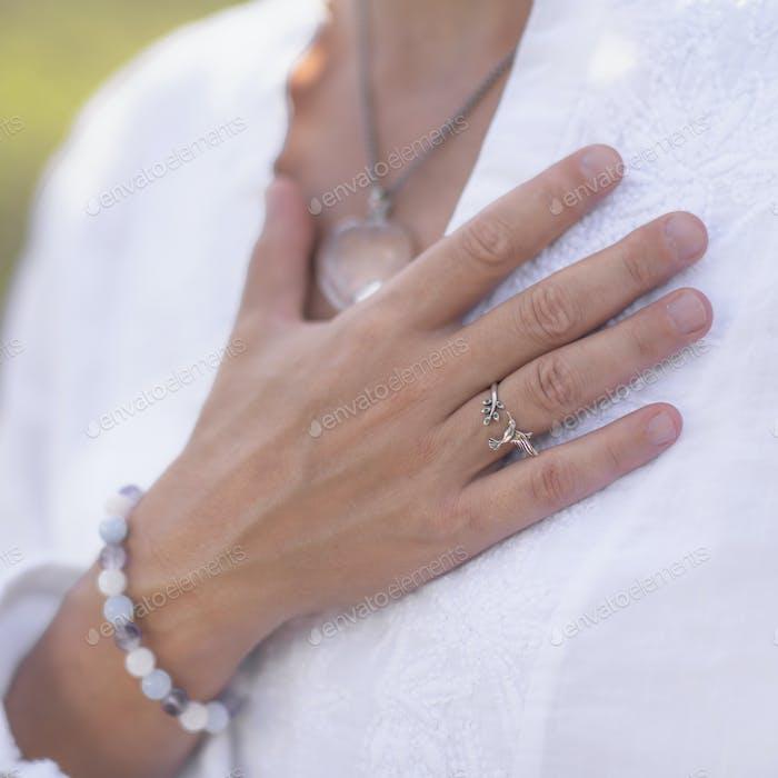 Gratefulness Meditation Hand Gesture
