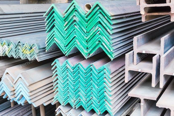 steel construction materials closeup