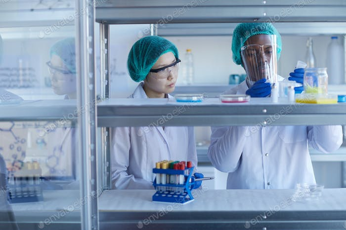 Two Medical Scientists In Laboratory