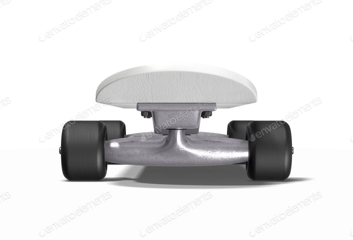 Front view skateboard on a white background.