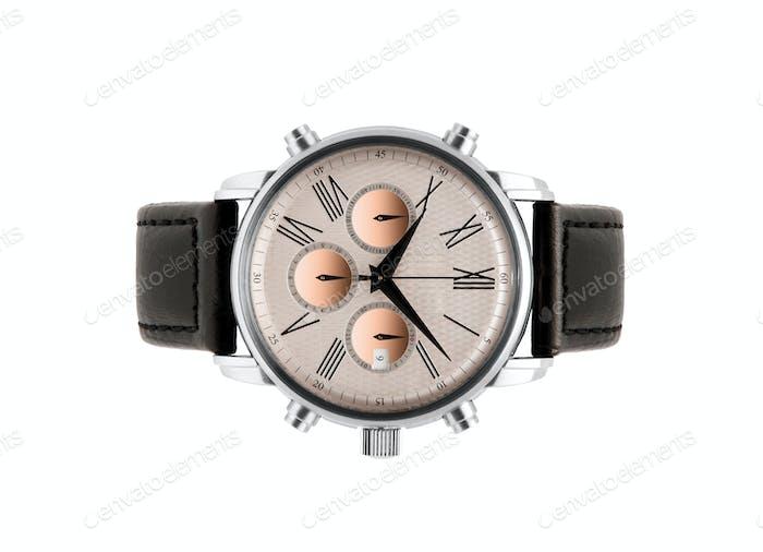 luxury silver man watch