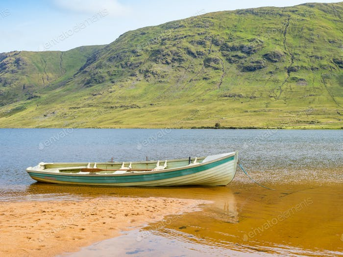 The Beach at Lough Nafooey in Ireland