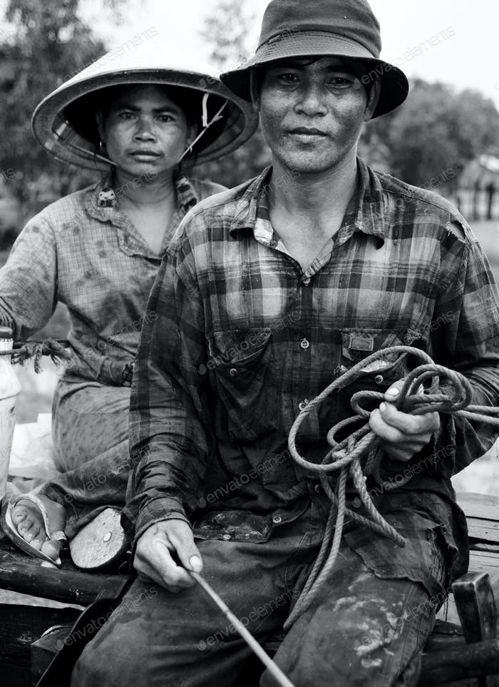 Cambodian Working Couple