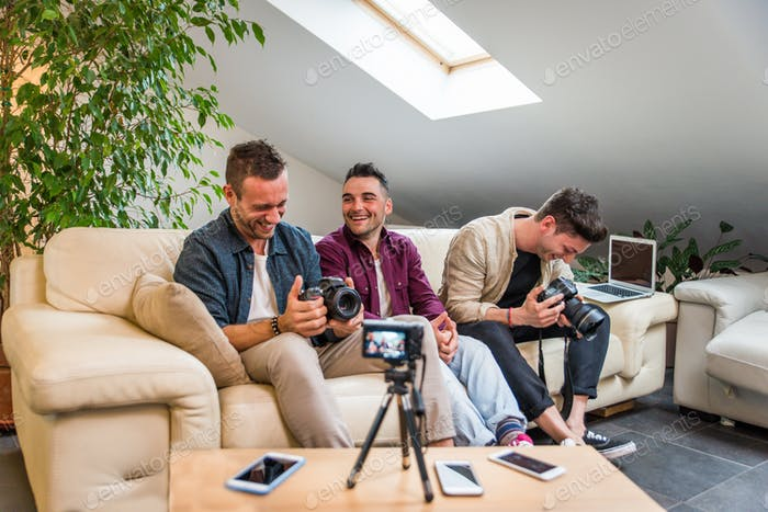 Influencers vlogging from home