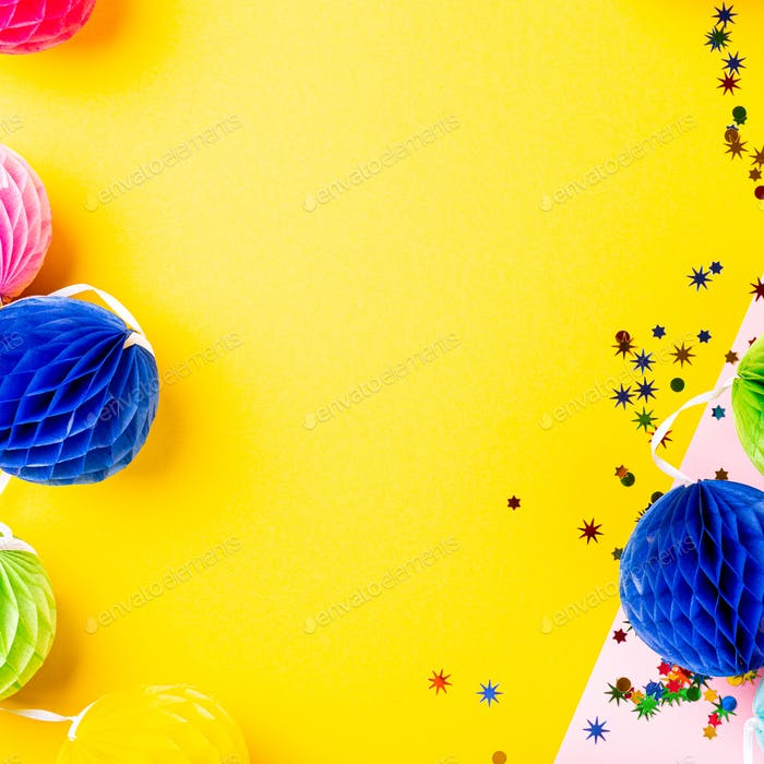 Festive background with colorful gift presents