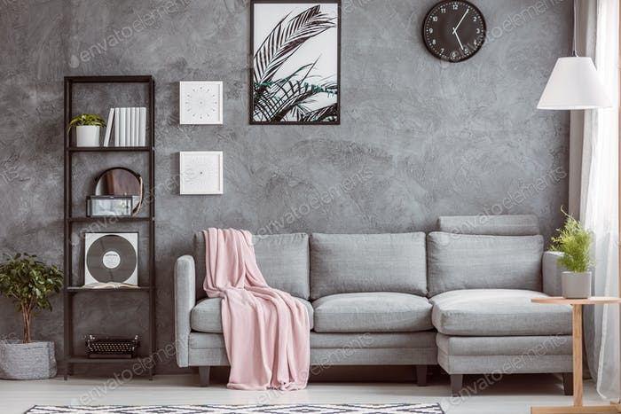 Stylish Living Room With Clock Foto Von Bialasiewicz Auf Envato Elements Enchanting Stylish Living Room