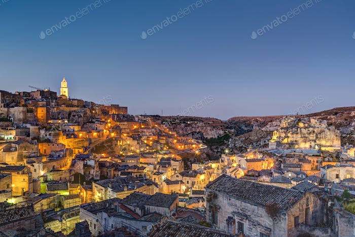 The old town of Matera