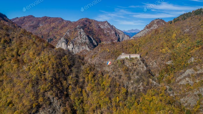 ruined Poenari fortress, Romania
