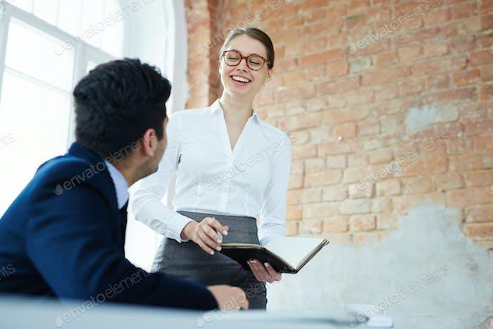 Обсуждение в офисе