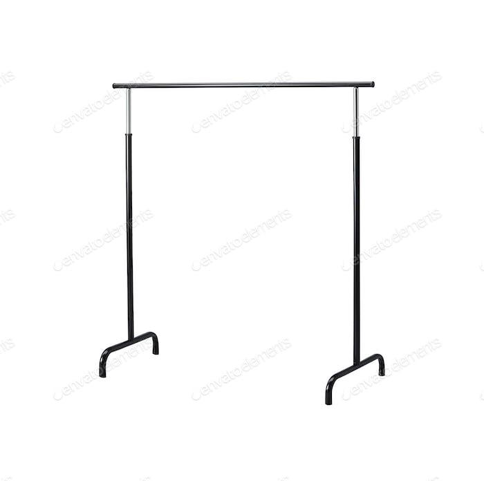 Basic adjustable garment clothing rack isolated