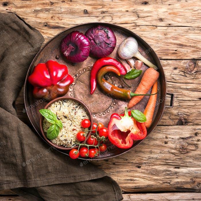 Vegetarian stuffed pepper