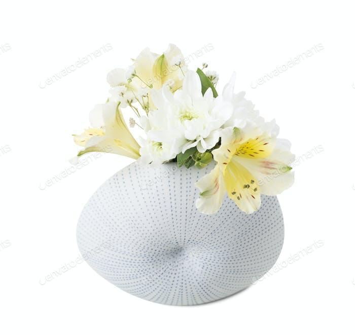 Decorative vase with flowers.