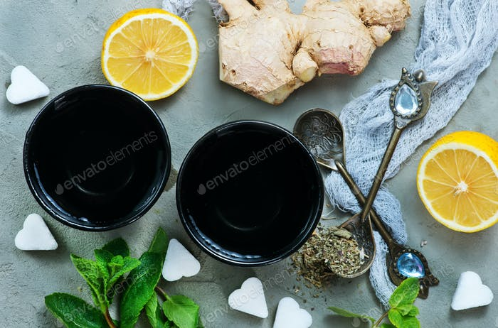 ingredients for tea