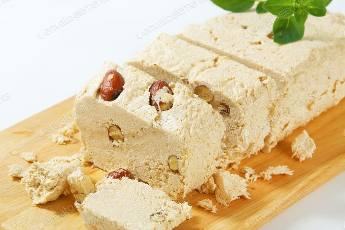Greek halva with almonds
