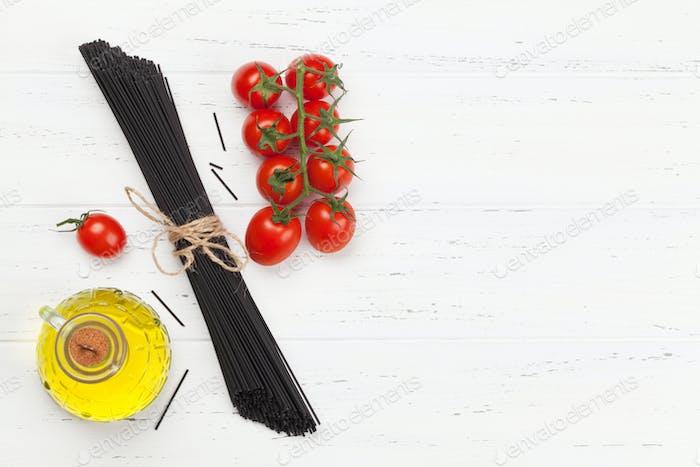 Schwarze Spaghetti Pasta