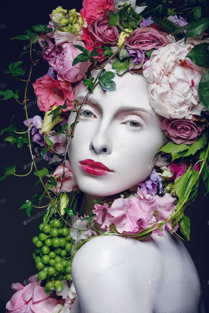 Schöne Blume Königin