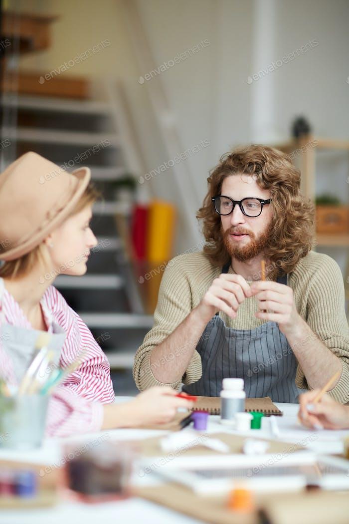 Meeting of creative people