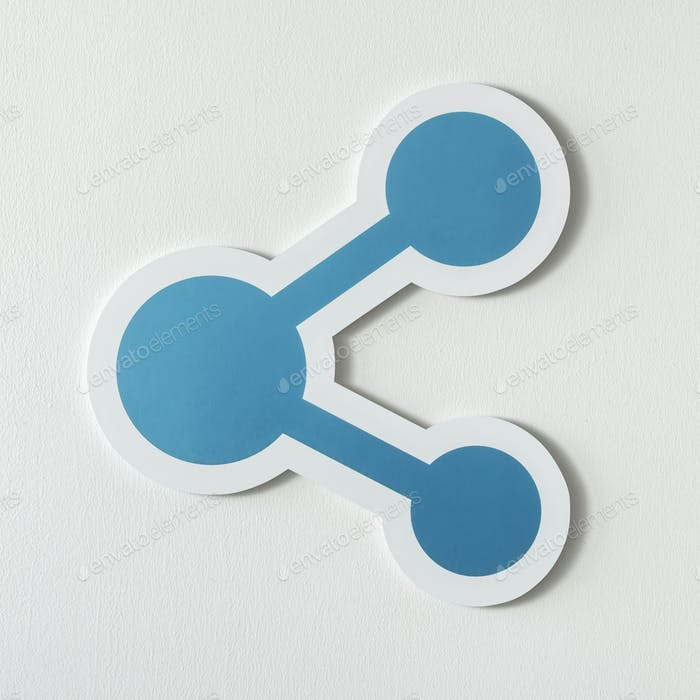 Symbol of sharing technology icon
