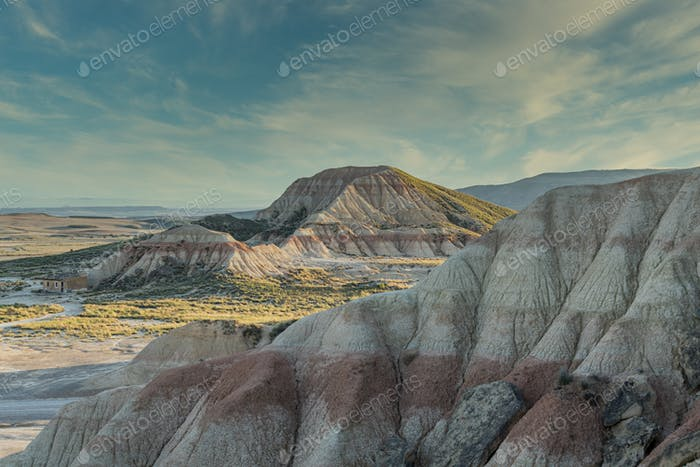 Eroded Mountains in Bardenas Reales