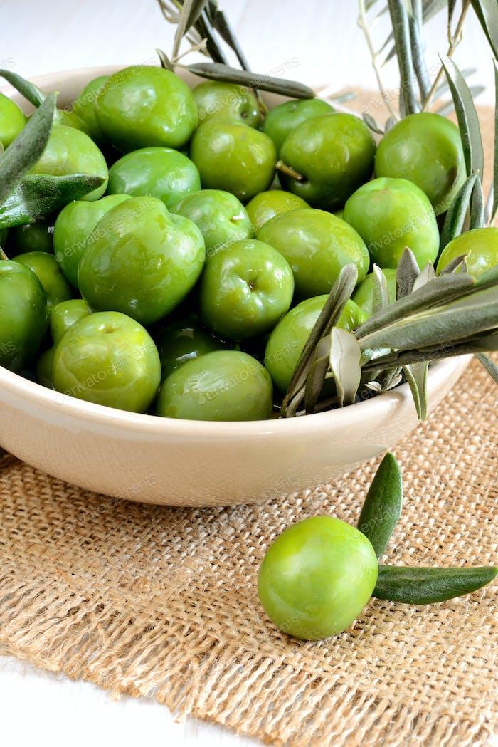Oliven mischen