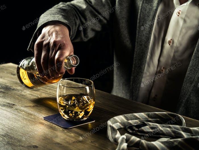 Drinking whiskey at night