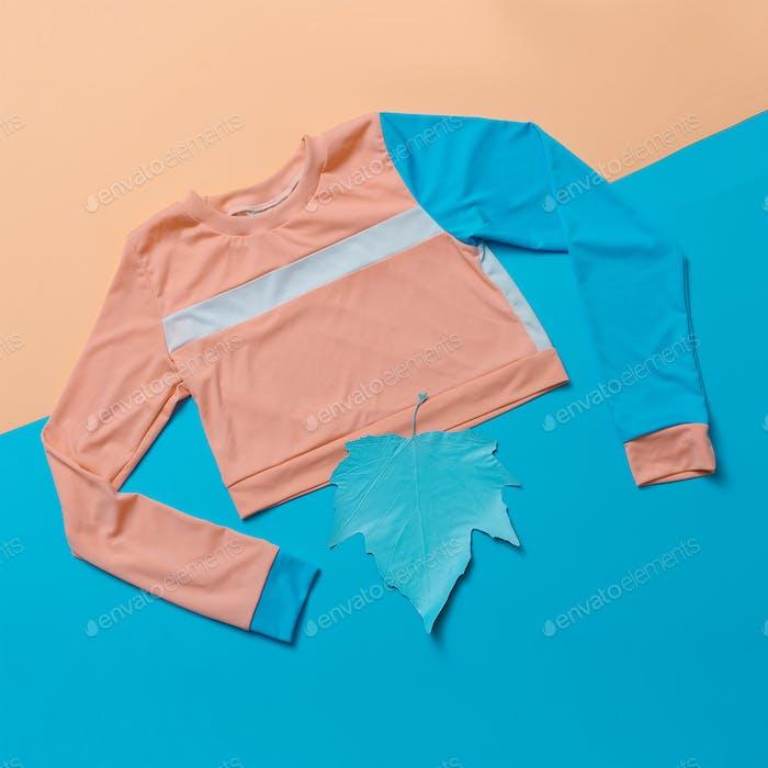 Stylish sports blouse. Geometry. Creative. Minimal. Hipster styl