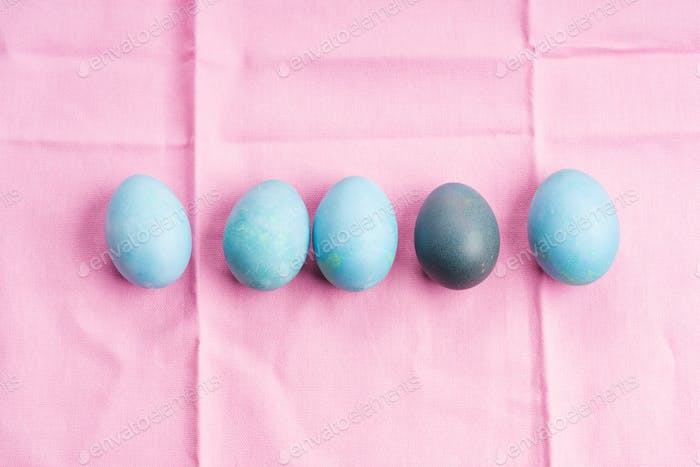Easter boiled colorful eggs on background