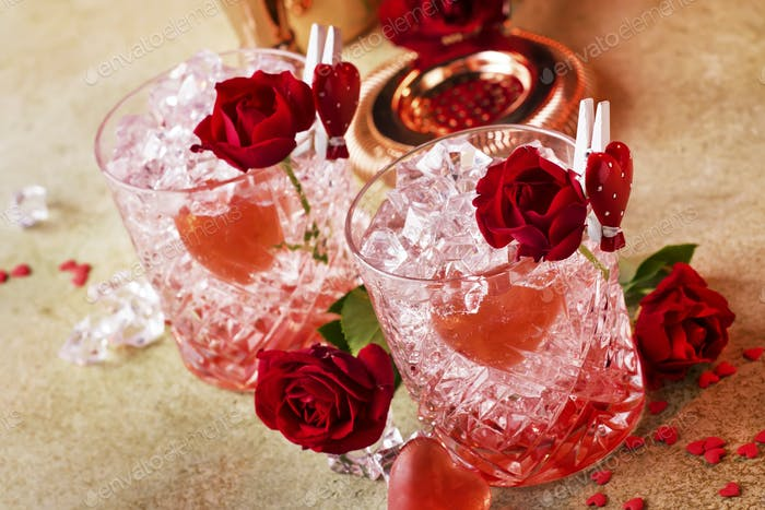 Rose Valentine's day cocktail