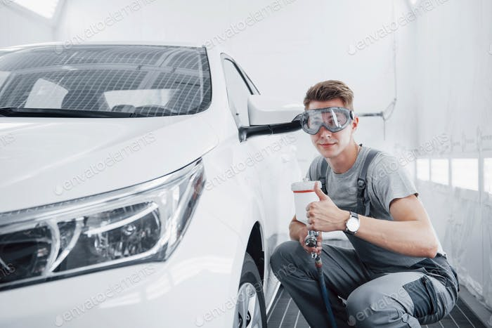 Paint spray master for car painting in the automotive industry.