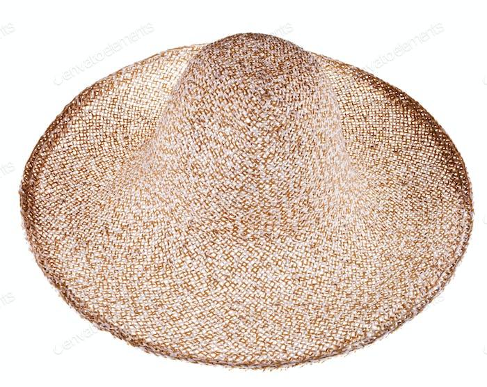 einfache Sommer-Strohhut mit breiter Krempe