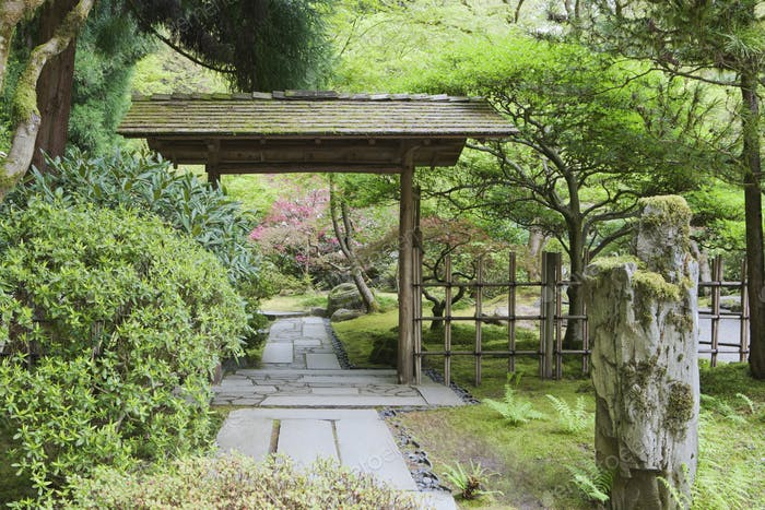54101,Gazebo in Japanese Garden, Portland, Oregon, United States