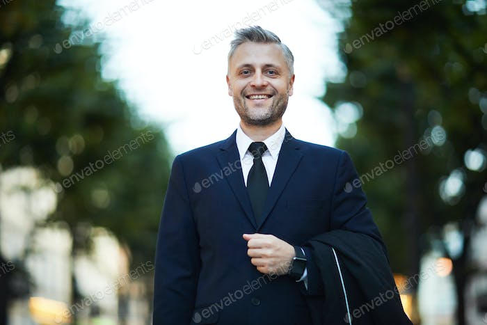 Businessman in the street