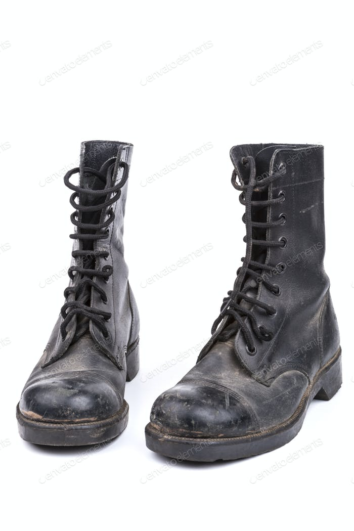 Paar Schmutzige Stiefel