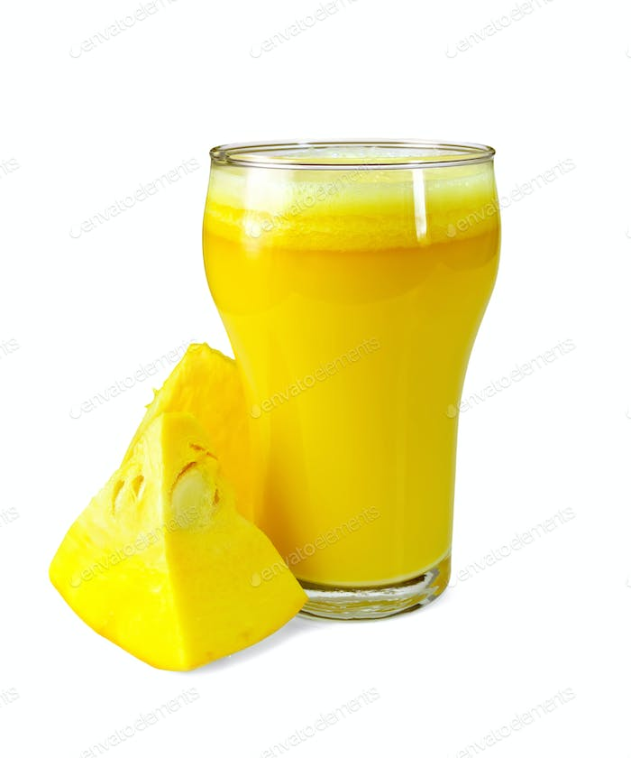 Juice pumpkin with slices