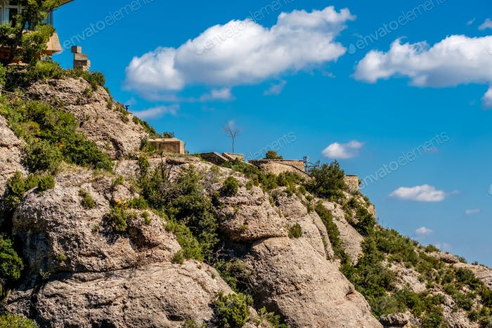 Mountains around the Montserrat Monastery