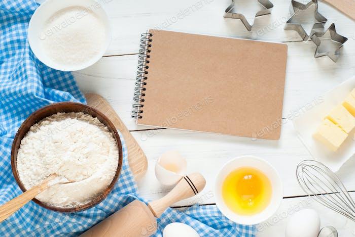 Baking ingredients.